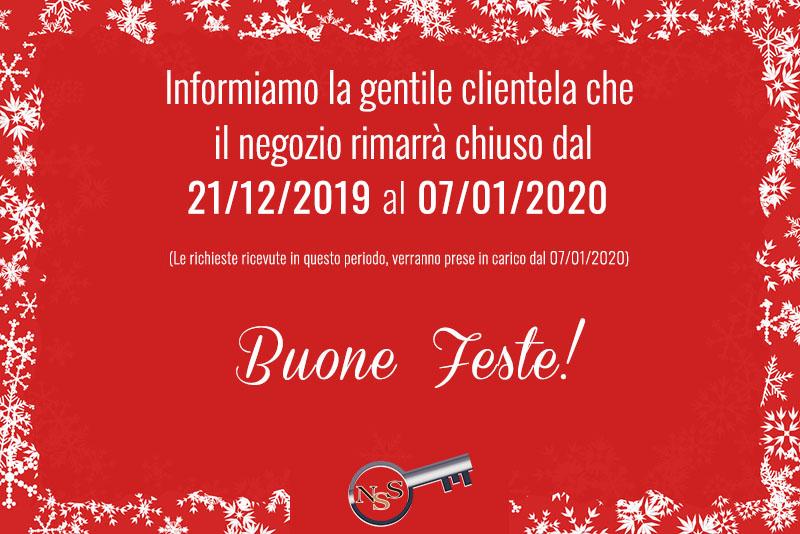 Non Solo Serramenti - Chiusura Natalizia 2019/2020